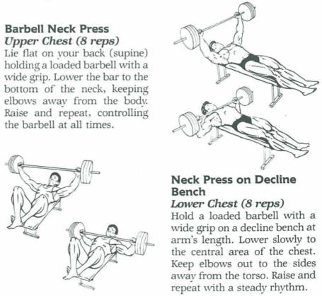 Barbell Neck Press Diagrams Vince Gironda