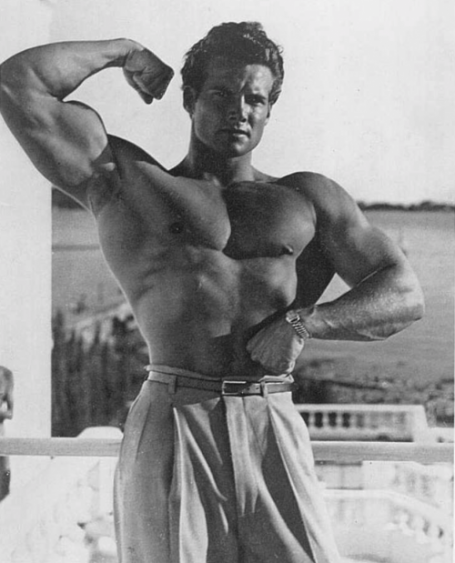 Bodybuilding Forearm Pose Steve Reeves