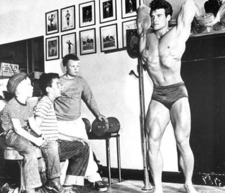 Steve Reeves Overhead Arm Extension Loaded Stretch Exercise