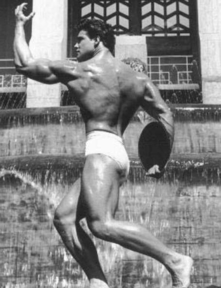 Steve Reeves Twisting Back Pose Bodybuilding