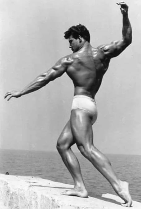 Steve Reeves Twisting Back Rear Delt Pose