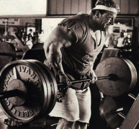 Underhand Bent-Over Row Dorian Yates