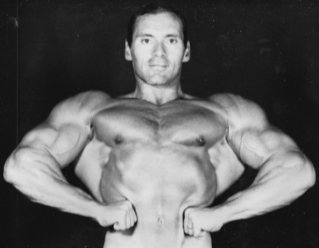 bodybuilding pose lat spread bob gallucci